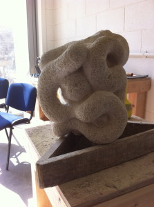 Stone sculpture in progress